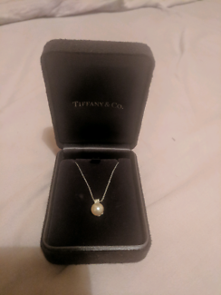 Tiffany & Co. White Gold Pendant Necklace