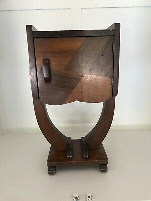 Vintage Art Deco Style Cigar Copper Lined  Humidor Table Stand
