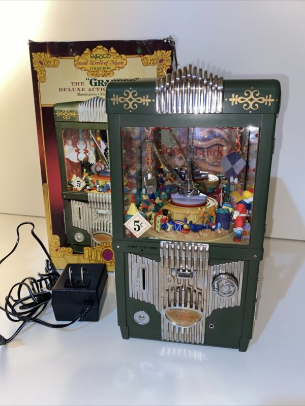 Vintage Enesco The Grabber Music Box Small World Collection