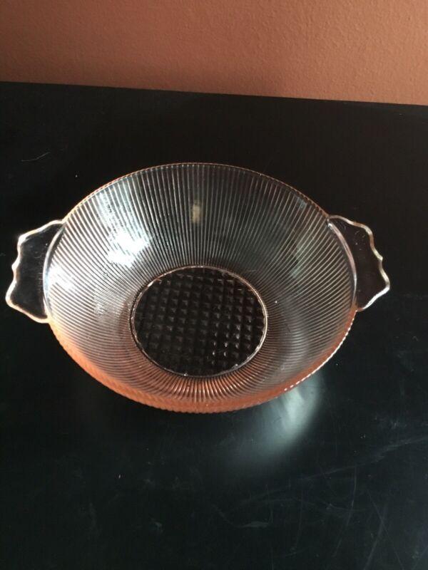 Homespun Berry Bowl  Pink Depression Glass