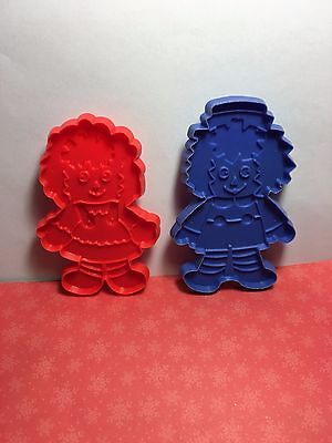 Vintage Raggedy Ann & Andy Cookie Cutters Lot Ch-18