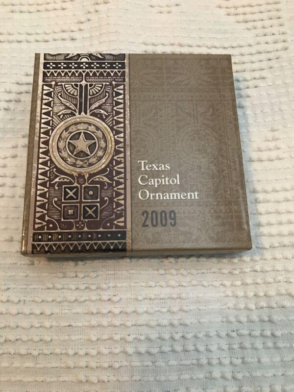2009 TEXAS STATE CAPITOL Christmas Tree Ornament Elijah E Myers Box W/ Paperwork