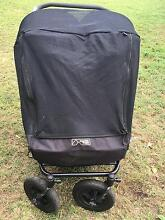 Mountain Buggy DUET Pram - Black - with Sun Cover Balmoral Brisbane South East Preview