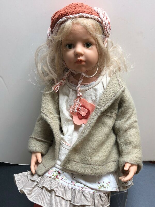 "25"" Hildegard Gunzel ""Frauke"" Resin No. 160/200 Beautiful Blonde Girl COA W/Box"
