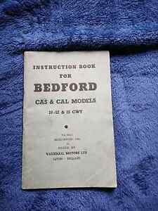 Instruction Book for Bedford CAS & CAL Models. 1960. Rowville Knox Area Preview
