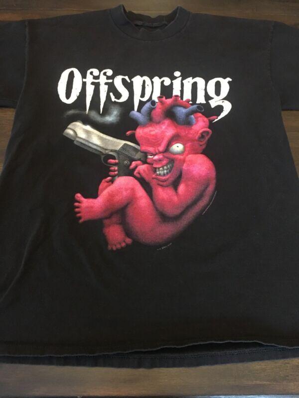 Vintage 1994 Offspring Baby With Gun Shirt Large