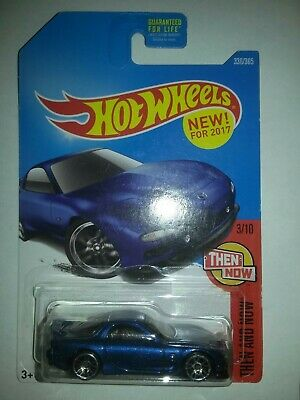 2017 Hot Wheels Then & Now Blue '95 Mazda RX-7