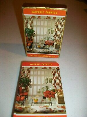 VINTAGE DECK PLAYING CARDS - WAVERLY FABRICS / McCALL'S BOOK - WITH JOKERS