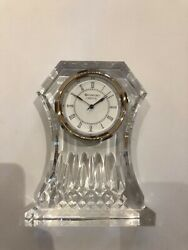 Lismore large quartz clock by Waterford crystal Unused still in box