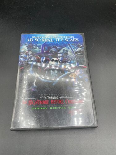 3-D NIGHTMARE BEFORE CHRISTMAS PRESS KIT BOOKLET PHOTO DVD
