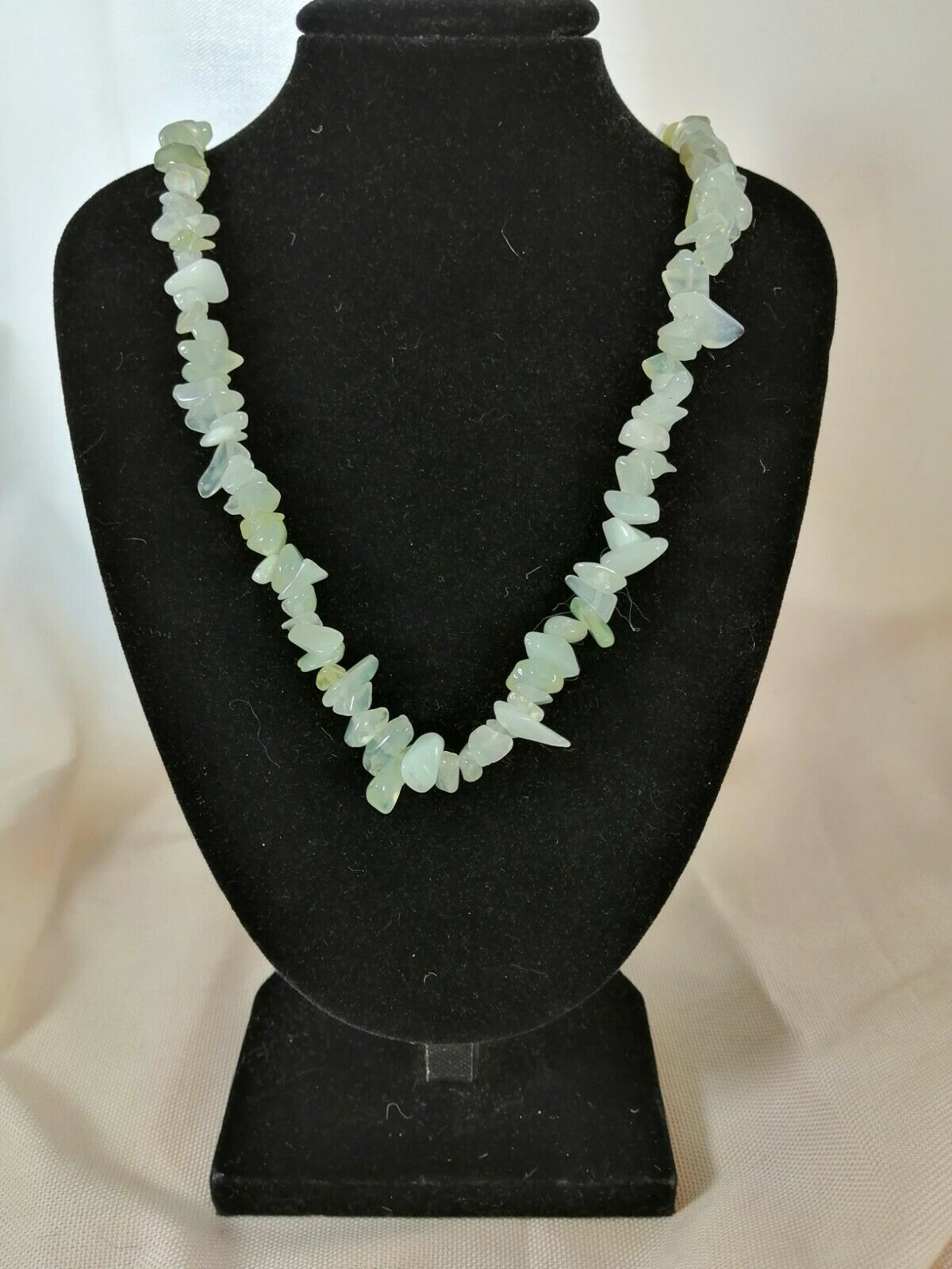 "Jade Chip Necklace 16"" to 34"", Long Necklace, Short Necklace"