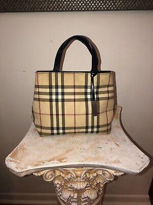 Check Small Tote - BURBERRY Small Tan NOVA CHECK Handbag TOTE Totebag.