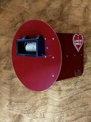 Wendys Pancake Welding Hood Helmet Wstrap Right Handed Red Wflip Up Lens