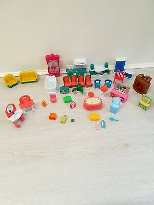 Dolls House Furniture Large Bundle Plastic Retro Vintage? Unbranded