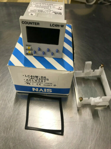 NAIS LC4H-W-R6-AC240VS ELECTRONIC COUNTER MATSUSHITA W/mount, gasket, instructio