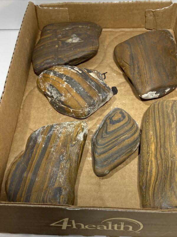 3 Lbs 4.8 Oz PREMIUM SELECT BANDED IRON Genesis Stones  Wyoming Hemitite Tiger