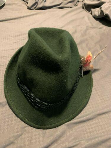 German Felt Hat with Feather Oktoberfest Vintage small/medium felt