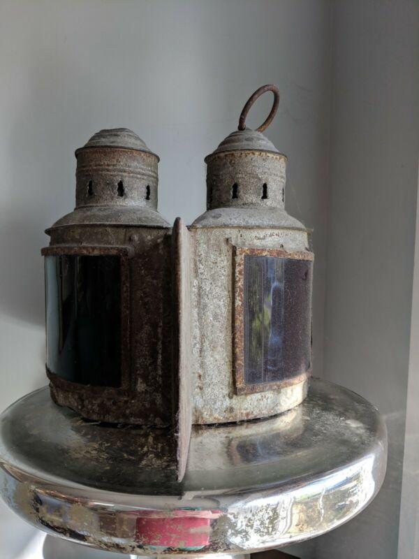 ANTIQUE NAVIGATION LIGHT, Oil Lamps