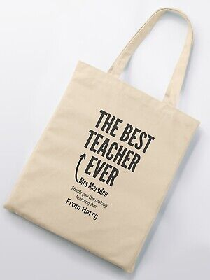Personalised Best Teacher Ever Tote Bag - Personalised Names And Message](Best Teacher Bags)