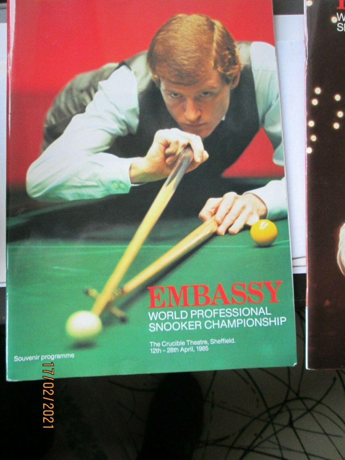 1985 Embassy World snooker Programme
