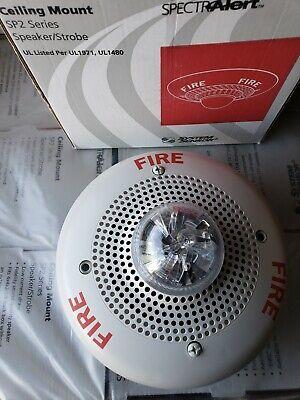 System Sensor Sp2c2415 White Ceiling Fire Alarm Speaker Strobe 15 Candela New