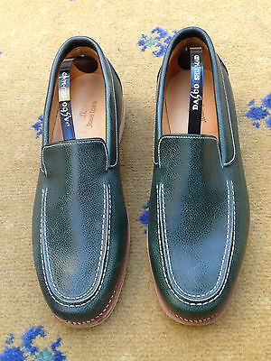 John Lobb Mens Shoes Green Leather Loafers UK 6 US 7 EU 40 Boating Deck Miami