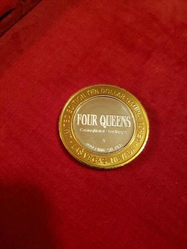 FOUR QUEENS  .999 SILVER TOKEN