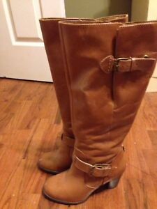 High leather boots (Clark) size 6