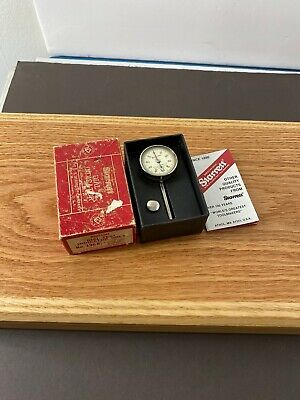 Starrett 196 Dial Indicator .001 With Box And 2 Contact Points Usa Made