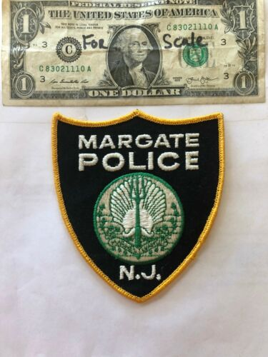 Margate New Jersey Police Patch  un-sewn in Great Shape