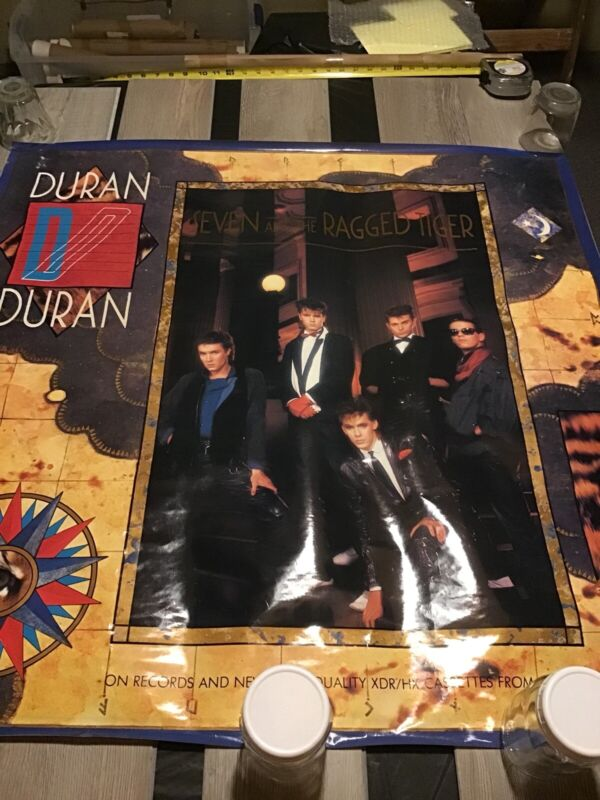 DURAN DURAN Seven And The Ragged Tiger Promo Poster Rare