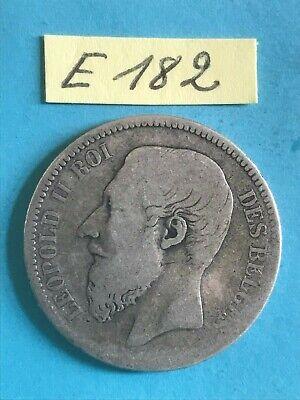 Belgique - Léopold II : 2 francs 1866 en argent