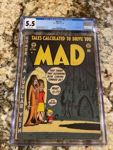 MAD #1 CGC 5.5 OW PGS 1952 E.C. COMICS 1ST SATIRE COMIC ICONIC GOLDEN AGE GRAIL