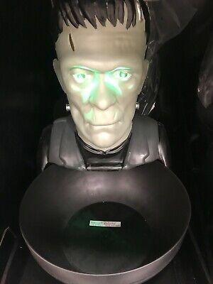 Frankenstein Animated Candy Bowl Halloween Universal Monsters LED Lights Up Lrg