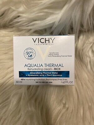 Vichy Aqualia Thermal Rich Rehydrating Cream 50ml 1.69oz EXP 11/2021+