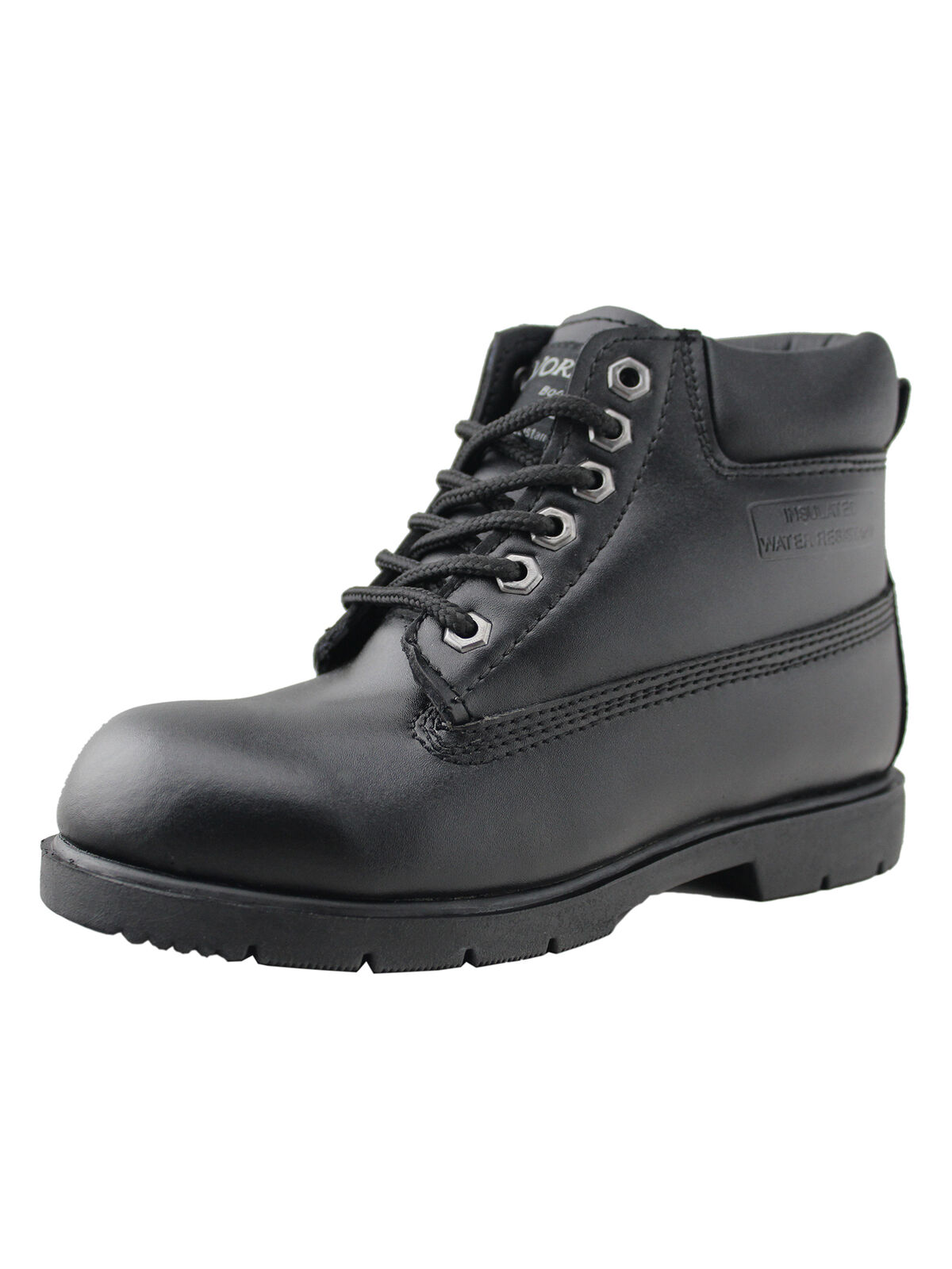 boys water resistant leather work shoes casual