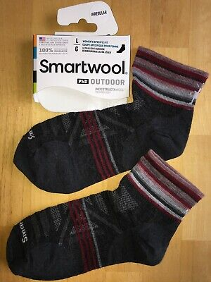 SmartWool PhD OUTDOOR Ultralight Mini Socks –Charcoal, Run Cycle Hike – Women (Smartwool Hiking Ultra Light Mini)
