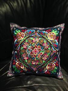 Thai Hmong Hill Tribe Cushion Pillow Cover Boho Ethnic Embroidery Caringbah Sutherland Area Preview