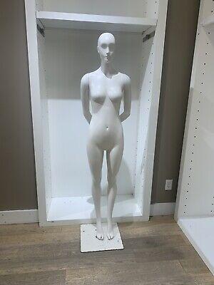 5.8 Ft Female Mannequin Egghead Plastic Full Body Dress Form Display