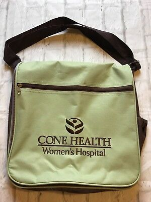 Cone Health Women's Hospital Green Messenger Tote Bag Satchel Bag Health Tote Bag