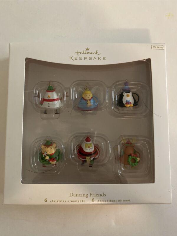 Hallmark Keepsake Miniature Dancing Friends Set/6 Christmas Ornaments New