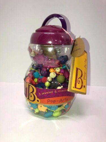 B Jeweled Pop Arty 500 pcs Snap Beads Jewelry Crafts Kids Bead Kit Jar Jewelry