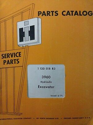 International Harvester Ih 3960 Hydraulic Excavator Crawler Tractor Parts Manual
