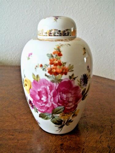 RARE Oscar Schlegelmilch c1900 Antique Porcelain Ginger Jar/Urn w/ Lid Prussia