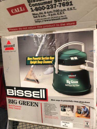 Bissell Big Green Multi Purpose Wet Dry Carpet Cleaner w/ Accessories 1672 & Box