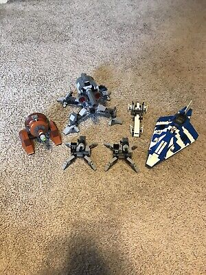 lego star wars Lot Of Used Sets: 7869, 8093, 9491, 2x Of 9488- 1 Minifigure