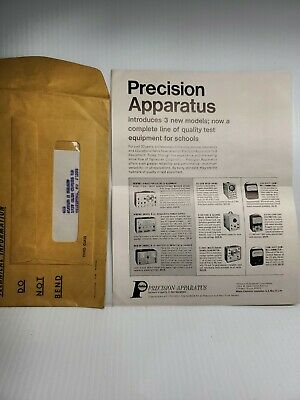 Precision Apparatus Tube Tester New Models Advertisement Sales Flyer 1967