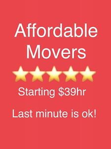 ⭐️$39hr MOVERS ⭐️OPEN 24HR⭐️ LAST MINUTE IS OK⭐️⭐️