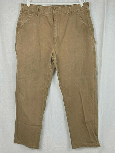 Pre-Owned Carhartt FRB152 - Flame-Resistant Duck Work Dungaree Pants 38 x 32