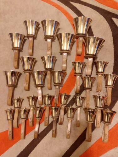 Set of 28 tuned handbells